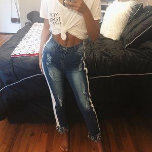 NWT Side Leg Zipper Jeans